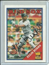 1989 Topps #269 Ellis Burks Rookie Cup Auto Autograph Red Sox Free Shipping - $4.99
