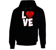 Love Is A Deal Heart Hoodie image 1