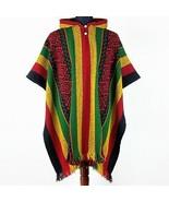 Llama Wool Mens Unisex South American Poncho Cape Coat Jacket rasta wide... - $71.23