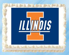 "Illinois Edible Image Topper Cupcake Cake Frosting 1/4 Sheet 8.5 x 11"" - $11.75"