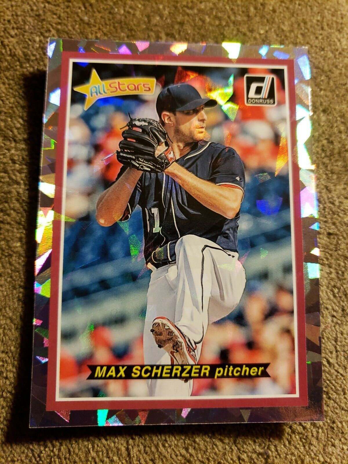 "Primary image for 2018 Donruss ""ALL-STARS"" Max Scherzer #AS10 Nationals Baseball Card JK15."