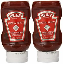 Heinz Hot & Spicy Tomato Ketchup with Tabasco (Pack of 2) 14 oz Bottles - $13.14
