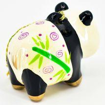 Handcrafted Painted Ceramic Panda Bear Confetti Ornament Made in Peru image 4