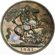 1951 UNITED KINGDOM 5 SHILLINGS FESTIVAL OF BRITAIN BU UNC COLOR TONED P... - $197.99