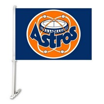 Houston Astros Car Window Flag, Banner, MLB, Set of 2, 12x18 Inches - $15.79