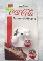 Coca-Cola Magnet Polar Bear With Coke  NOS 1995 Original Packaging - $12.99