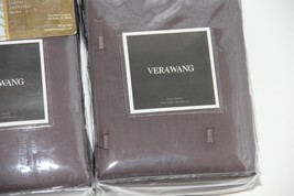 2 Vera Wang LUSTER Charcoal Grey King Quilted Shams NEW $330 - $113.95