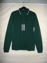 FRED PERRY Men's Polo T-Shirt, size XS, OLIVE GREEN, Long Sleeves, BNWT - $49.10