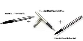Pack of 2 - Parker Frontier Steel Ball Point Pen + Frontier Steel Roller Ball +  - $59.39