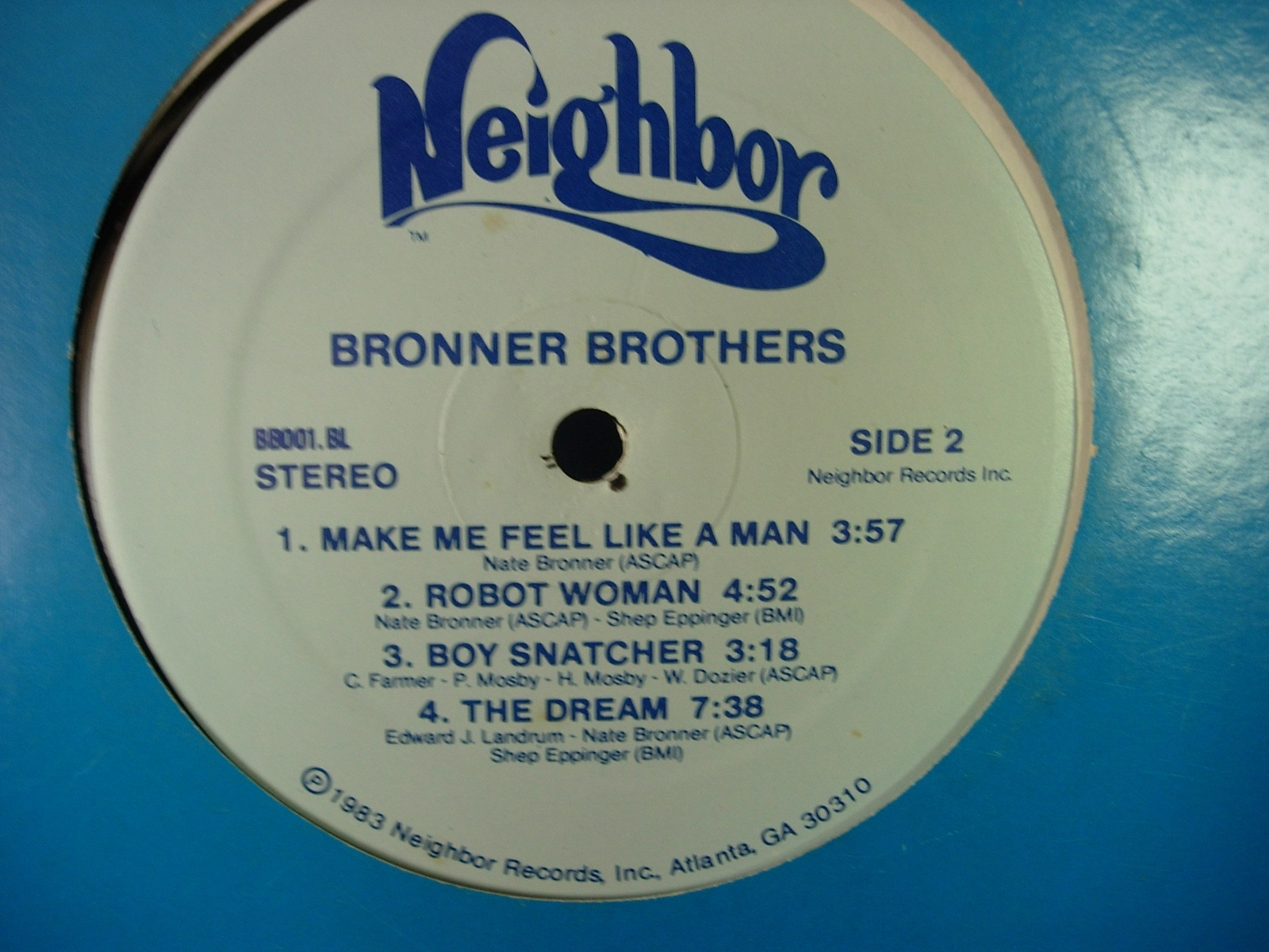Bronner Brothers - Bronner Brothers - Neighbor Records BB001