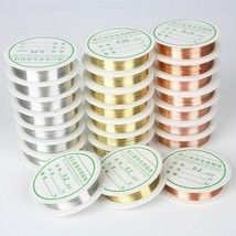 Alloy Cord Beading Wire DIY Jewelry Making Cord String Gold Silver Coppe... - $9.51