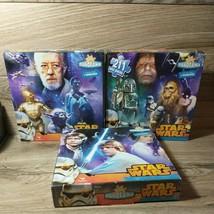 Star Wars Hans Solo Chewbacca Yoda Luke 3 Puzzles Make 1 Panorama Kids 2... - $12.38