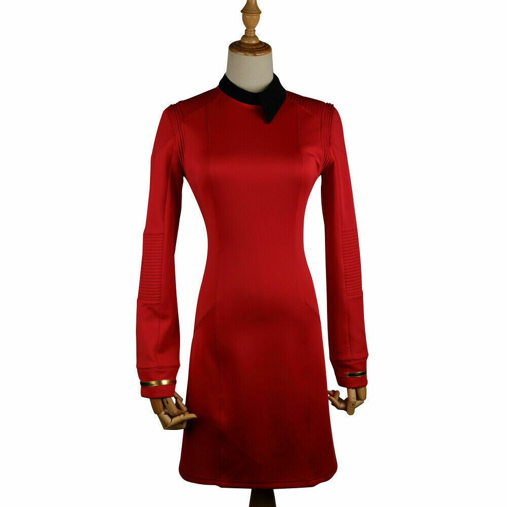 Primary image for Season 2 Star Trek Discovery Starfleet Commander Red Dress Costume with Badge