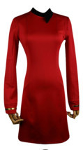 Season 2 Star Trek Discovery Starfleet Commander Red Dress Costume with ... - £34.13 GBP