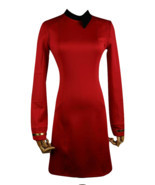 Season 2 Star Trek Discovery Starfleet Commander Red Dress Costume with ... - £30.83 GBP