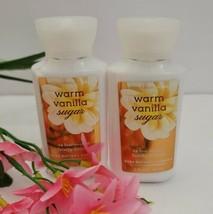 2PCS SET Bath & Body Works Warm Vanilla Sugar Travel Size BODY CREAM,LOTION - $14.89