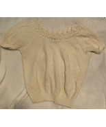 Vintage Adele Knitwear Sweater White Large Made In USA - $10.88
