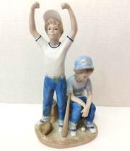 "Paul Sebastian Two Baseball Players Home Run Porcelain Figurine 1989 9"" H - $6.99"