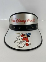 WDW 25th Anniversary Silver Light Up Party Visor Hat Vintage New With Tag - $19.80