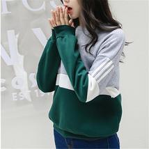 Autumn New Spell Color Stitching Harajuku Women Hoodies Pullover Fleece ... - $18.88+