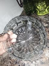 VTG Anchor Hocking 3 footed Square Cut Diamond Rim Glass Bowl - $38.00