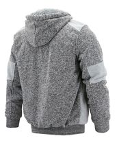 Boy's Soft Sherpa Lined Two Tone Quilted Juniors ZipUp Fleece Hoodie Kids Jacket image 10