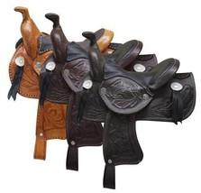 """WESTERN HORSE MINIATURE LEATHER SADDLE 5"""" SEAT DECORATION, NOVELTY, COLO... - $29.90"""