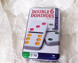 Cardinal Double 6 Dominoes - Complete Set of 28 in Collectible Tin - $9.49