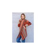 Fringed Crazy Blanket Cardigan Size M NEW - $38.61