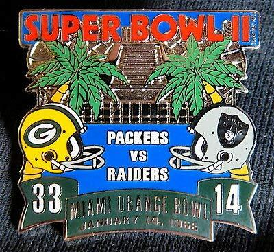 Packers vs Raiders Super Bowl 2 Final Score Pin Willabee & Ward SB II