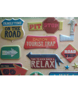 Pillow 3D Stickers K & CO Company; ROAD Sings TRIP VACATION scrapbook Pa... - $6.92