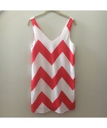Everly Red White Striped Chevron Sheath Tank Sundress Womens Size Small S - $23.76