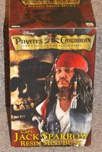 NECA Disney Pirates Of The Caribbean Jack Sparrow Resin Bust NIB Only 2500 Made - $124.99