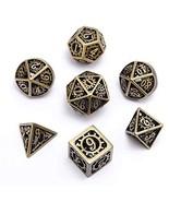 DND Metal Dice Set 7pcs Dungeon Dragon Dice, Punk Style RPG Games Math T... - $62.46