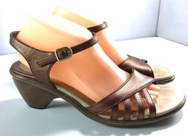 Dansko Sandals Womens Copper Leather Ankle Strap Size 41 Shoes 10.5 - 11 - $74.20