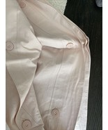 West Elm organic washed cotton plain duvet full/ queen pink champagne - $120.00