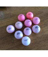 Calloway Maxfli Pinnacle Slazenger Pink Golf Balls Set Of 10 - $9.99