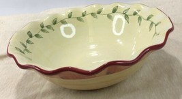 Pfaltzgraff Napoli Hand Painted Ruffled Edge Serving Bowl 8 1/2 Inch - $24.75