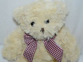 Baxters Bears Brand Light Brown Teddy With Maroon White Gingham Bow image 5