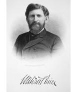 CALVIN STEWART BRICE Ohio Lawyer & Senator - 1895 Portrait Antique Print - $12.29