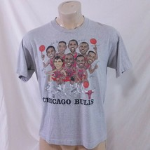 Vintage 90s Chicago Bulls T Shirt Caricature Jordan Pippen Single Stitch... - $59.99
