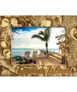 Cayman Islands with Seashells Laser Engraved Wood Picture Frame (5 x 7) - $28.41