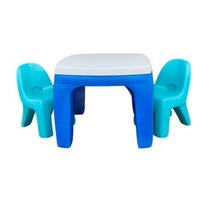Vintage 1992 Fisher Price Flip-Top Table w/2 Chairs Sturdy - $98.18