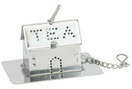 HIC Kitchen Tea Infuser, House Shape with Drip Tray, 18/8 Stainless Stee... - $10.99
