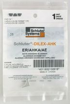 Lot 4x Schluter Systems ER/AHKA/AE DILEX-AHK Right Side Aluminum End Cap SEALED image 3