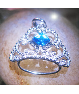 Haunted NECKLACE 27X BE TREATED LIKE ROYALTY MAGICK 925 CROWN WITCH Cassia4 - $24.00