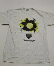 Tennis USTA League Championships Gray Hanes Graphic T-Shirt Medium Good ... - $24.74