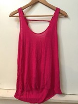 American Eagle Outfitters Pink High Low Drape Back Tank Top Size XS Extra Small - $14.95