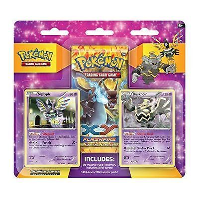 XY 7 Gym Blister Pack Pokemon TCG Flashfire Booster Pack & Promos Purple version
