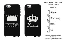 King / Queen Phone Cases - iPhone 4 5 5C 6 6+, Galaxy S3 S4 S5 Note , HT... - $19.99